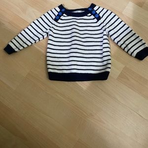 Hanna Andersson Navy Striped Sweater 75 (12-18M)